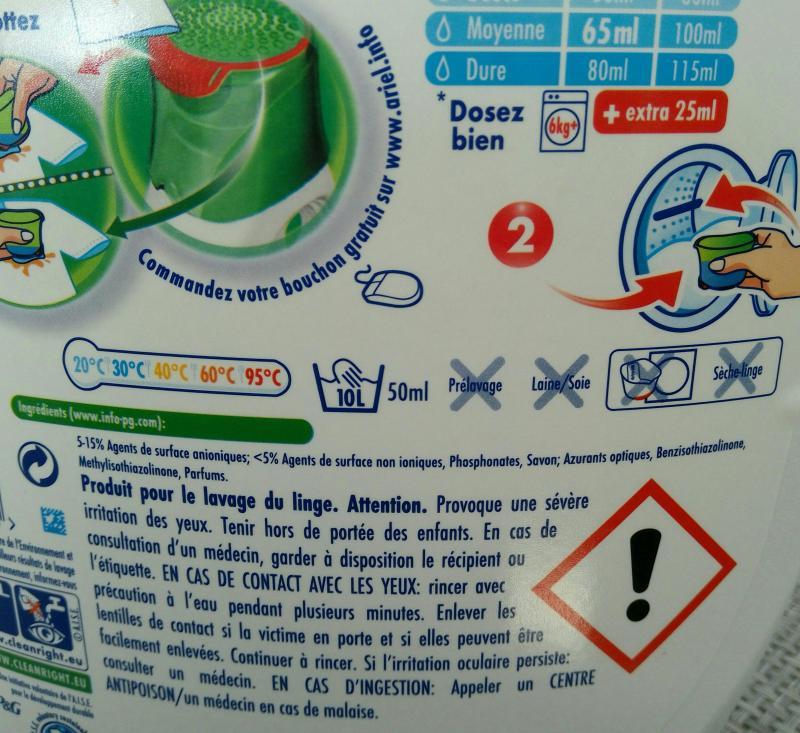 Lessive liquide b b ariel avis - Lessive qui sent bon ...