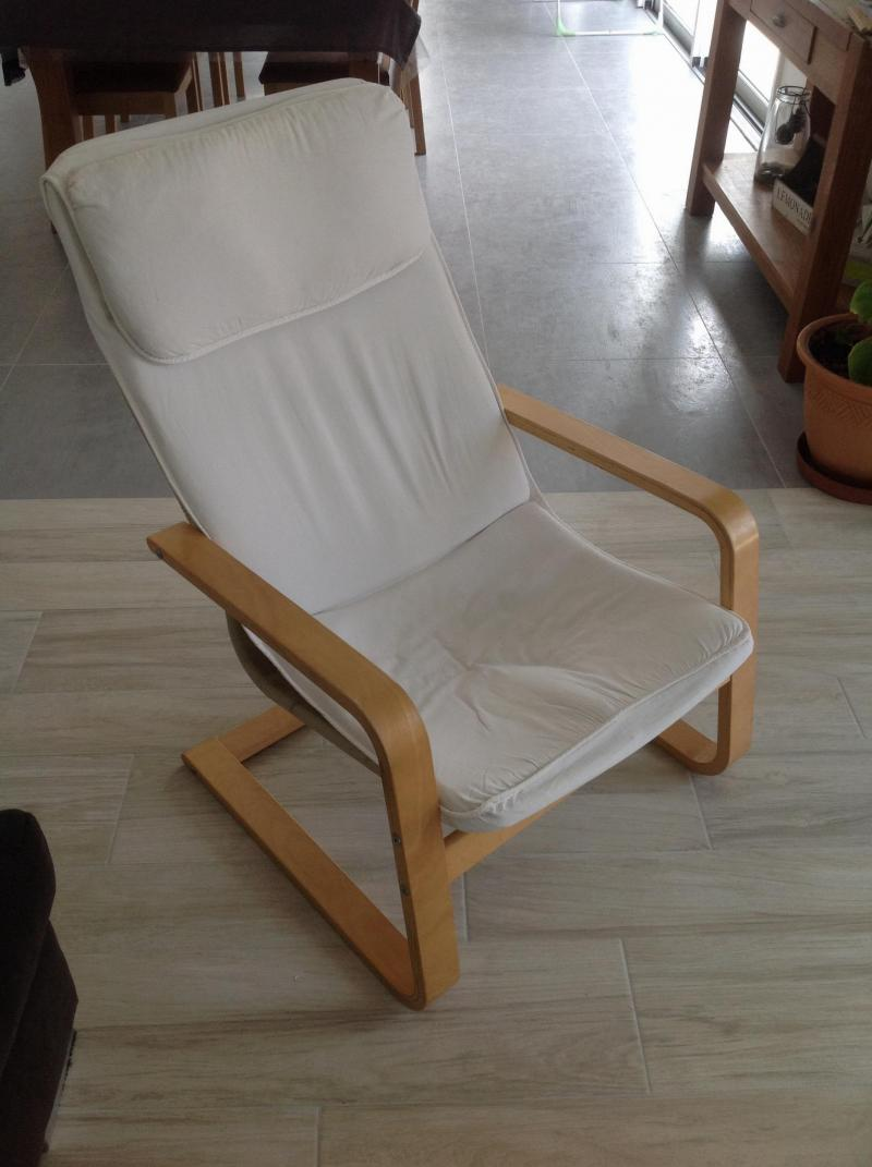 Housse pour fauteuil ikea poang for Housse pour chaise ikea