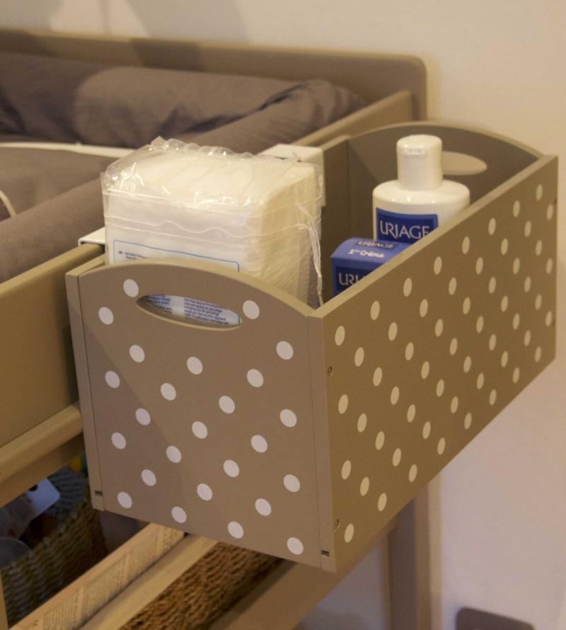 Boite de rangement sp cial table langer vertbaudet avis - Rangement couches table a langer ...