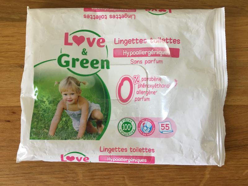 lingettes sensitives cologiques love and green avis. Black Bedroom Furniture Sets. Home Design Ideas