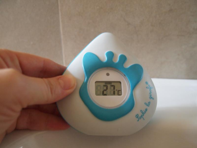 Thermomètre de bain bébé et d'ambiance digital Sophie la