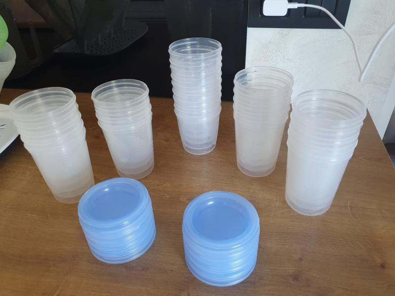 Philips Avent Lot de 5 Pots de Conservation et leurs Couvercles Vissables 240 ml