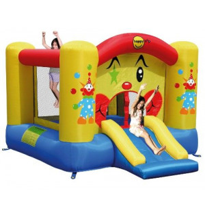 Ch teau gonflable clown avec toboggan happy hop avis - Structure gonflable happy hop ...