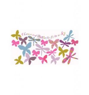 37 stickers papillons et libellules chambre fille for Stickers papillon chambre bebe