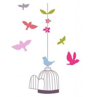 Sticker geant cage et oiseaux chambre fille vertbaudet avis for Chambre fille vertbaudet