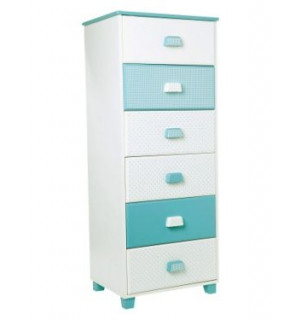 Commode type semainier bleu chambre fille vertbaudet avis - Commode chambre fille ...