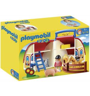 playmobil 1 2 3 ferme transportable playmobil avis. Black Bedroom Furniture Sets. Home Design Ideas