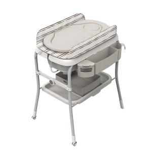 Table langer avec baignoire cuddle bubble comfort - Table a langer en bois avec baignoire ...