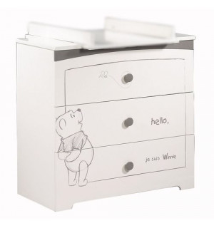 commode 3 tiroirs adorable pooh sauthon avis. Black Bedroom Furniture Sets. Home Design Ideas