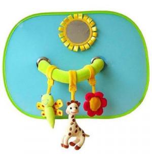 pare soleil avec arche sophie la girafe x2 vulli avis. Black Bedroom Furniture Sets. Home Design Ideas