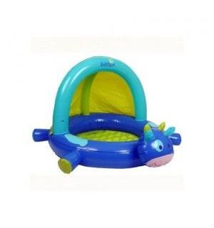 piscine gonflable pataugeoire vache avec auvent babysun avis. Black Bedroom Furniture Sets. Home Design Ideas