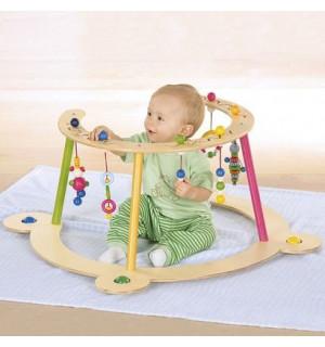 Portique de jeu premiers pas baby walz avis for Portique bois pas cher