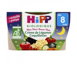 Mon dîner Bonne nuit : Crème de légumes / coquillettes biologique