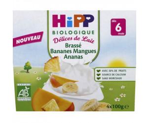 Délices de lait biologique : Brassé Bananes Mangues Ananas