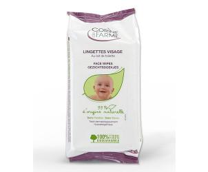 Lingettes bébé visage au lait de toilette x25