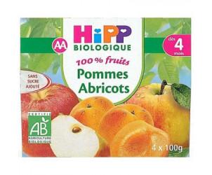 100% fruits Pommes abricots 4 x 100 g dès 4 mois