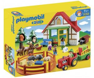 Playmobil 1.2.3 - Coffret Maison forestière et animaux