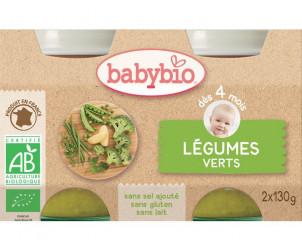 BIO Légumes verts 130 g dès 4 mois