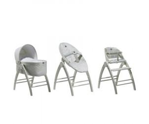 Combiné berceau+transat+chaise haute Angel