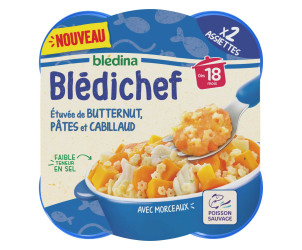 BLEDICHEF Etuvée de butternut, pâtes et cabillaud