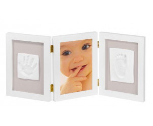 Cadre photo avec deux empreintes