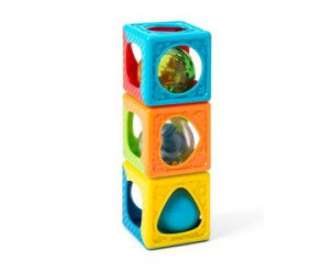 3 hochets cubes