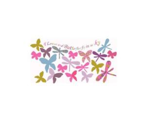 37 stickers papillons et libellules chambre fille