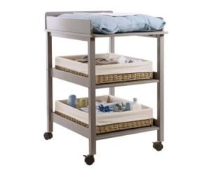 table a langer a roulettes et etageres vertbaudet avis. Black Bedroom Furniture Sets. Home Design Ideas