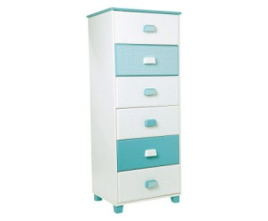 Commode type semainier bleu chambre fille