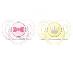 Sucette nouveau-né décorées en silicone -0/2 mois