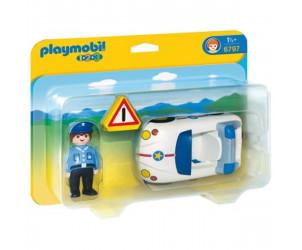 Playmobil 1.2.3 - Policier et voiture