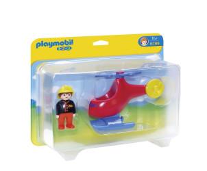 Playmobil 1.2.3 : Pompier avec hélicoptère