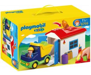 Playmobil 1.2.3 - Camion avec garage