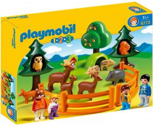 Playmobil 1.2.3 - Parc d'animaux et famille