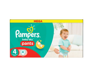 Couches Pampers Baby-Dry Pants -Taille 4