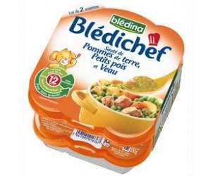 BLEDICHEF - Plat Sauté de pomme de terre, petits pois, veau