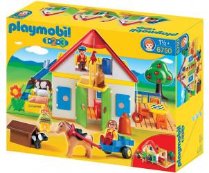Playmobil 1.2.3 - Coffret Grande ferme