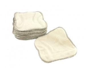 Lingettes lavables en coton biologique