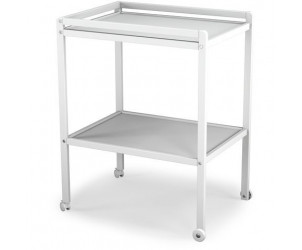 Table à langer en bois, 2 plateaux avec roulettes