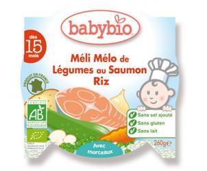 Mon p'tit plat méli mélo de légumes au saumon / riz