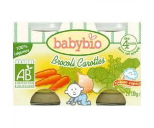 BIO Brocoli Carottes 130 g dès 4 mois