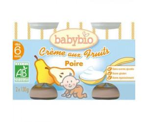 BIO Crème aux fruits Poire 130 g dès 6 mois