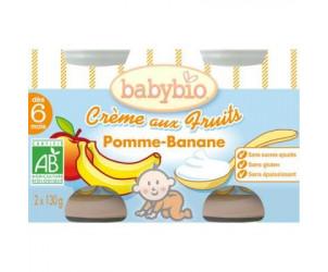 BIO Crème aux fruits Pomme - banane 130 g dès 6 mois
