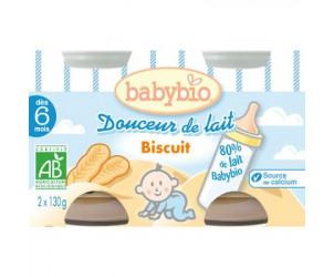 BIO Douceur de lait Biscuit 130 g dès 6 mois