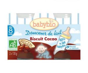 BIO Douceur de lait Biscuit Cacao 130 g dès 8 mois