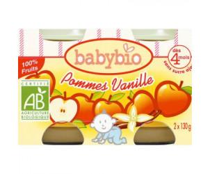 BIO Pommes vanille dès 4 mois