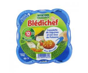 BLEDICHEF Cassolette légumes et duo poissons
