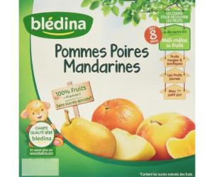 Coupelle de fruits Pomme-Poire-Mandarine (x4)