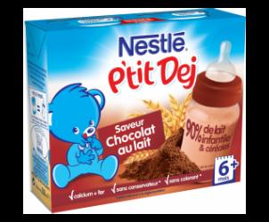 Nestlé P'tit Dej - Brique lait & céréales chocolat au lait