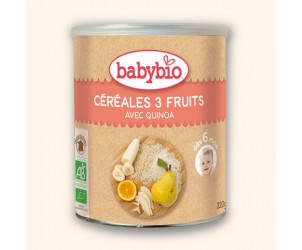 BIO Céréales 3 fruits 220 g dès 6 mois